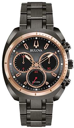 Bulova Men's 'Curv Collection' Quartz Stainless Steel Casual Watch