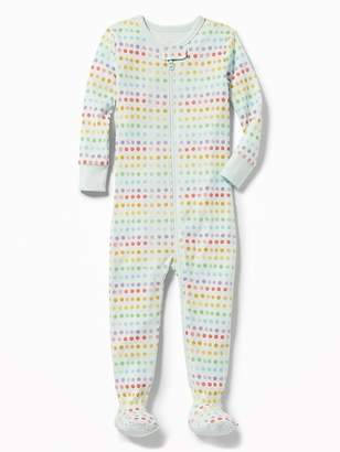 Old Navy Rainbow Polka-Dot Footed Sleeper for Toddler & Baby