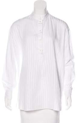 Massimo Alba Striped Button-Up Top