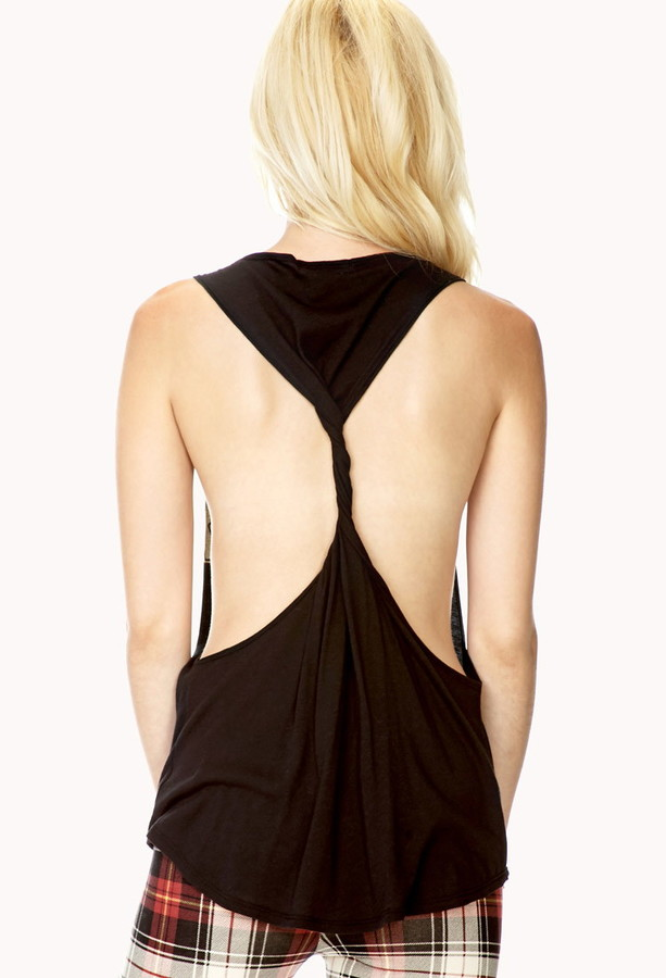 Forever 21 too cool twisted back tank
