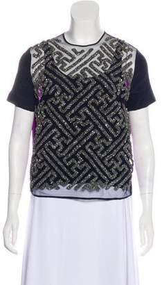 Preen by Thornton Bregazzi Embellished Silk Top