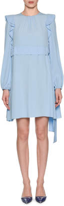 No.21 No. 21 Long-Sleeve Ruffle Mini Dress