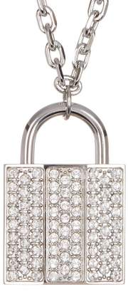 Swarovski Crystal Pave Lock Pendant Necklace