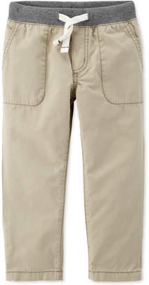 Carter's Carter Baby Boys Ribbed-Waist Cotton Pants