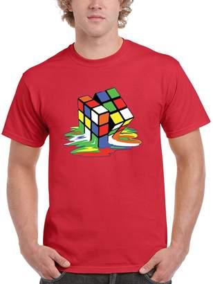 Theory NineTeen Big Bang Melting Rubik's Cube Mens T-Shirt (S, )