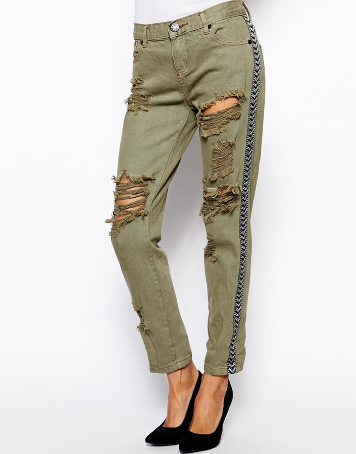 One Teaspoon Ranger Awesome Baggies Jeans - Green