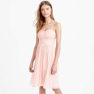 J.Crew Marbella strapless dress in silk chiffon