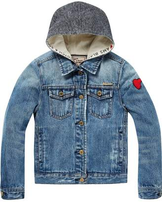 Scotch & Soda Hooded Trucker Jacket