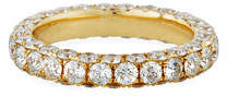 Graziela Gems 18k Gold Diamond 3-Sided Ring, Size 7