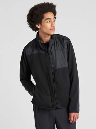 Gap Hybrid Track Jacket with Hidden Hood