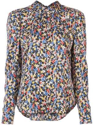 Veronica Beard floral long-sleeve blouse