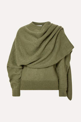 REJINA PYO Colette Draped Mohair-blend Sweater - Green