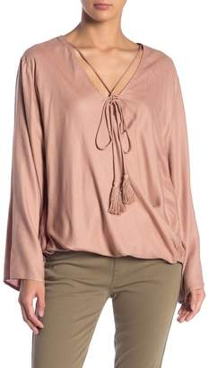 Elan International Strappy Tie Neck Blouse