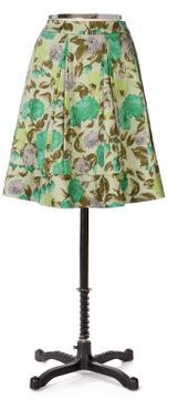 Anthropologie Winter Greens Skirt