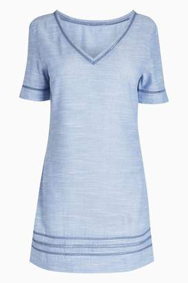 Next Womens Chambray Blue Cover Up