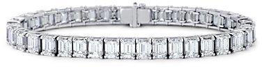 Emerald-Cut Diamond Bracelet in Platinum (26.96 ct. tw.)