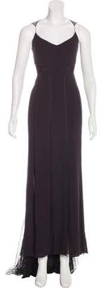 Akris Mesh-Paneled Evening Dress