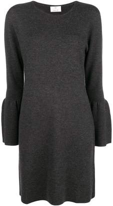 Allude wide-sleeve dress