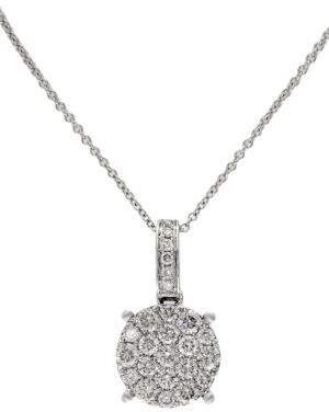 Effy Bouquet Diamond Cluster Pendant in 14K White Gold