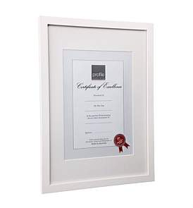 Profile Print And Certificate Timber Photo Frame A4 Matted Or A3
