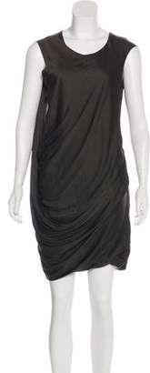 Helmut Lang Draped Knee-Length Drees