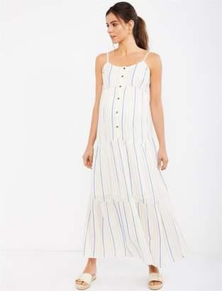 b07a551c9c1ab Splendid Multi Stripe Maxi Maternity Dress