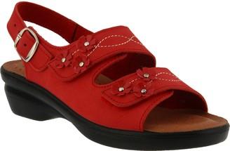 Spring Step Flexus by Leather Floral Sandals -Ceri