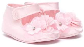 MonnaLisa floral touch-strap shoes