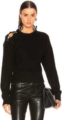 Helmut Lang Shoulder Strap Crewneck in Black | FWRD