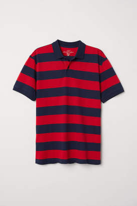 H&M Striped Polo Shirt - Red