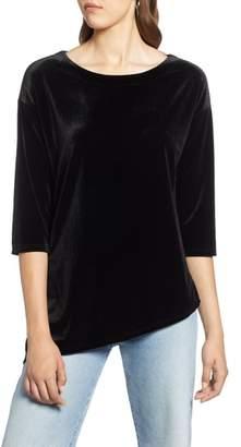 Halogen Asymmetrical Velvet Tunic