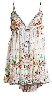 Camilla Women's Floral-Print Drawcord Waist Playsuit