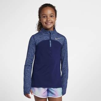Nike Dri-FIT Element Big Kids' (Girls') Half-Zip Running Top