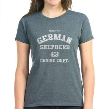 D.E.P.T CafePress - Canine German Shepherd - Womens Cotton T-Shirt