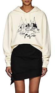 Off-White Off - White c/o Virgil Abloh Women's Cartoon-Graphic Cotton Crop Hoodie - White