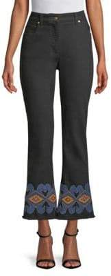 Etro Hi-Rise Embroidered Denim Jeans