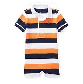 Polo Ralph Lauren Striped Cotton Rugby Shortall(6-24 Months)