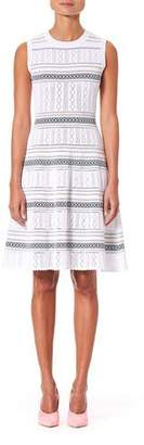Carolina Herrera Sleeveless Knit Knee Length Dress