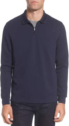 Vince Camuto Slim Fit Quarter Zip Mesh Polo