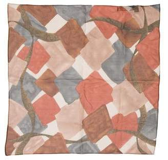 Halston Printed Silk Handkerchief