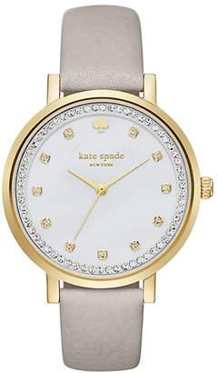 Clocktower grey pave monterey watch $225 thestylecure.com