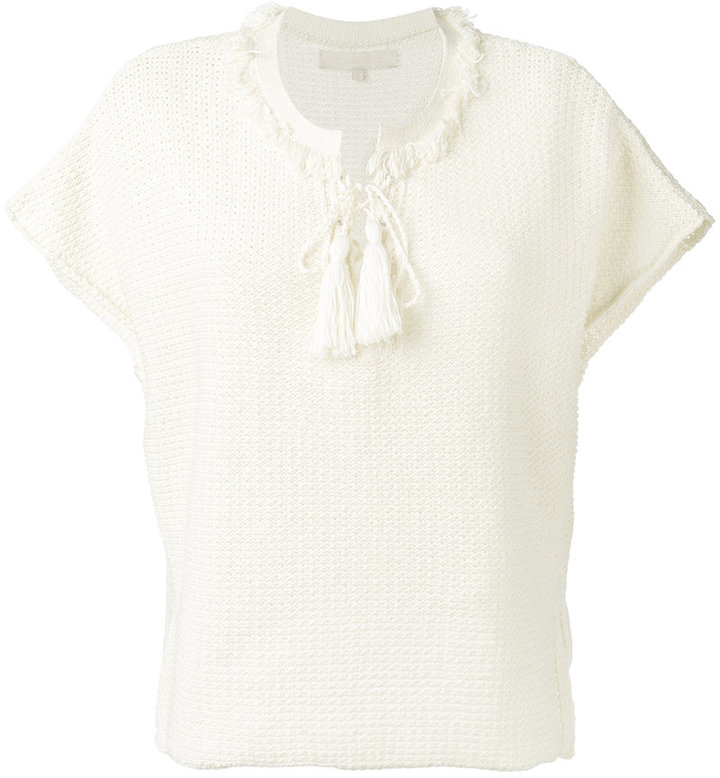 Vanessa Bruno Vanessa Bruno lace-up knit T-shirt