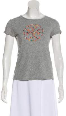 Tory Burch Embroidered Short Sleeve T-Shirt