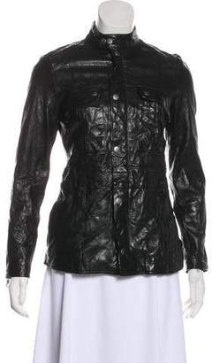Frame Leather Long Sleeve Jacket