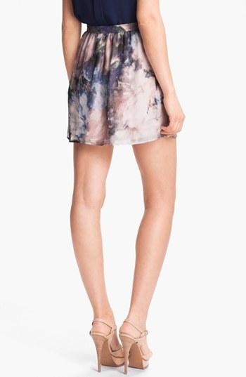 Haute Hippie Floral Print Silk Skirt