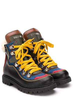 DSQUARED2 Gaucho hiking boots