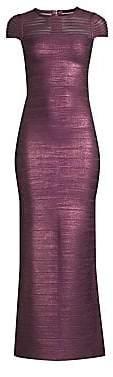 Herve Leger Women's Sleeveless Illusion Mesh Bandage Gown