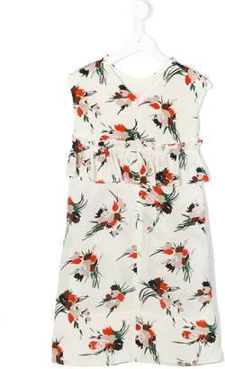 Marni floral ruffled dress