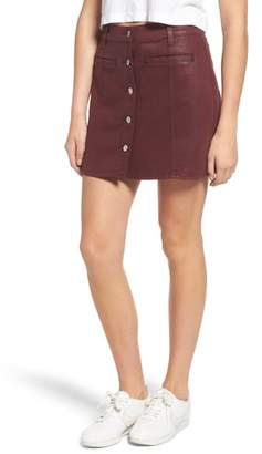 7 For All Mankind Button Front Miniskirt