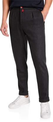 Kiton Men's Cashmere Jersey Jogger Pants